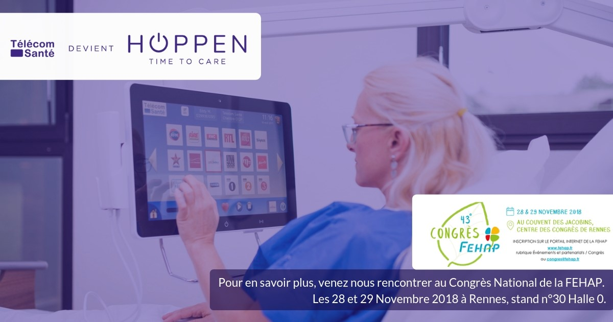 Hoppen sera présent au 43ème Congrès National de la FEHAP les 28 et 29 novembre prochains à Rennes