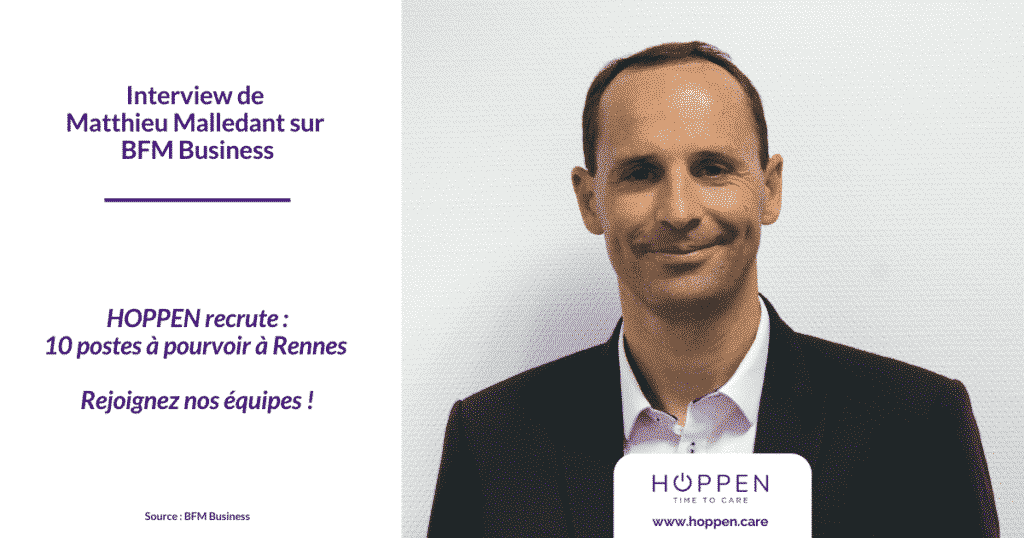 BFM Business - interview Matthieu Malledant HOPPEN recrute
