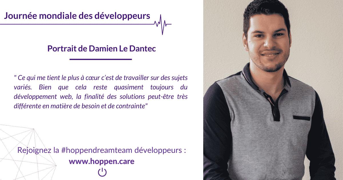 Portrait développeur Damien Le Dantec