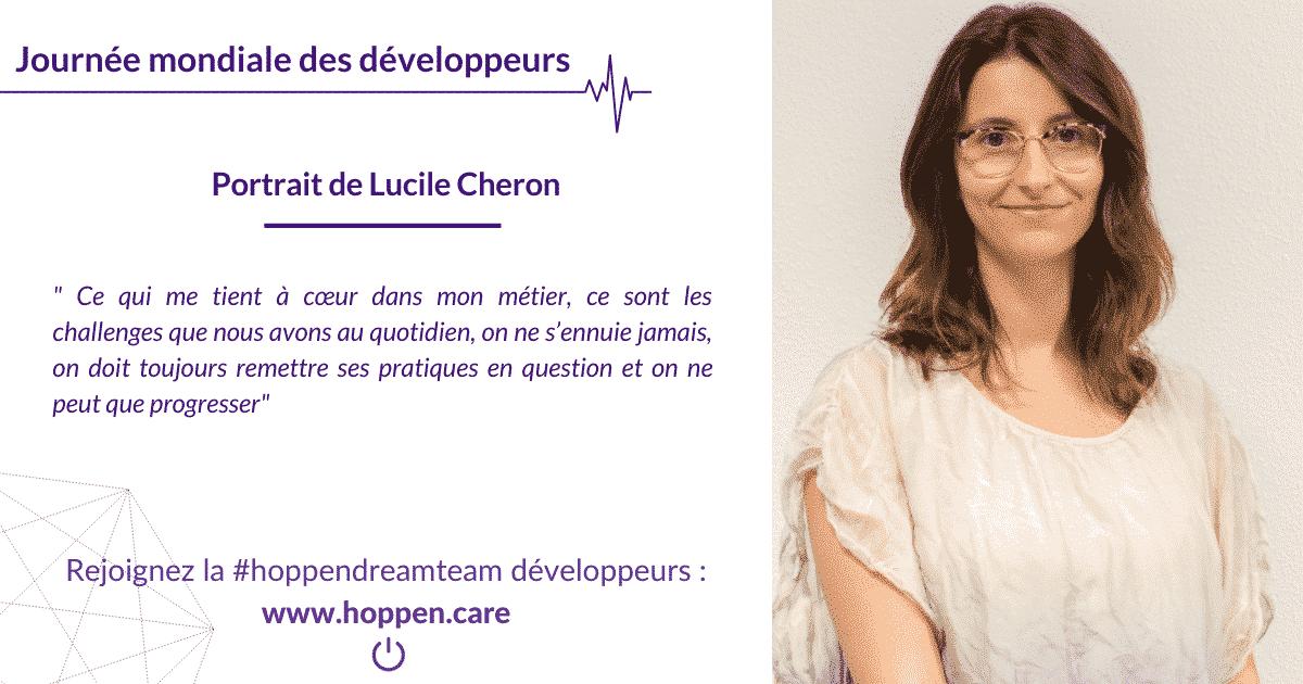 Portrait développeur Lucile Cheron