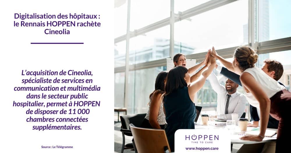 HOPPEN rachat Cineolia - Article Le Télégramme