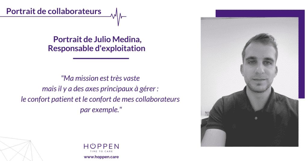 portrait collaborateur Julio Hoppen